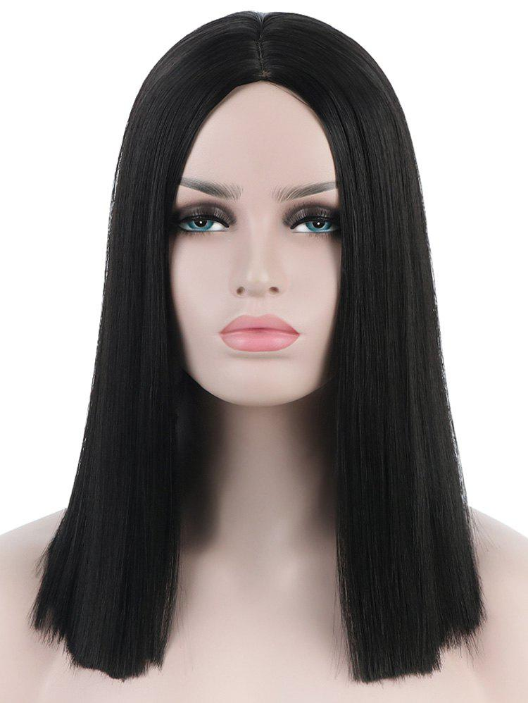 Cheap Medium Center Parting Blunt Straight Party Synthetic Wig