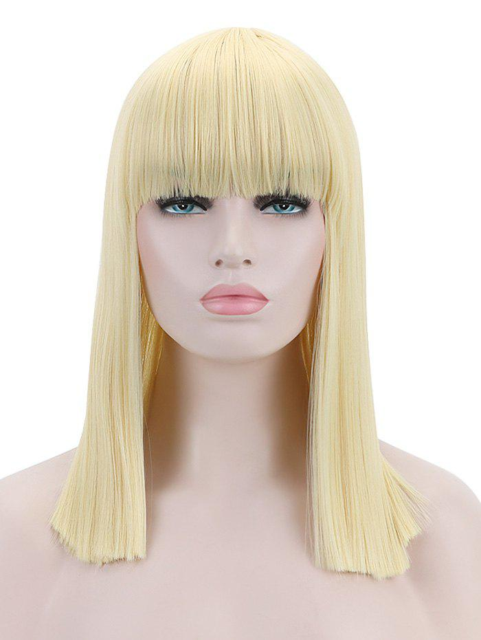 Sale Full Bang Medium Blunt Straight Cosplay Synthetic Wig