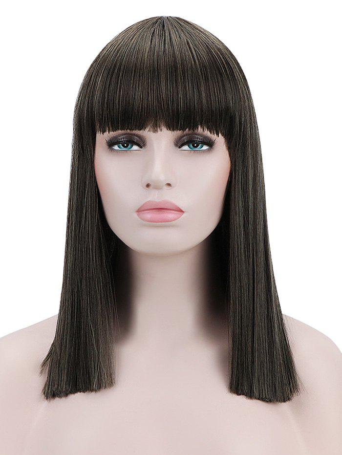 Latest Full Bang Medium Blunt Straight Cosplay Synthetic Wig