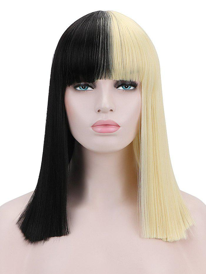 Outfits Full Bang Medium Blunt Straight Cosplay Synthetic Wig