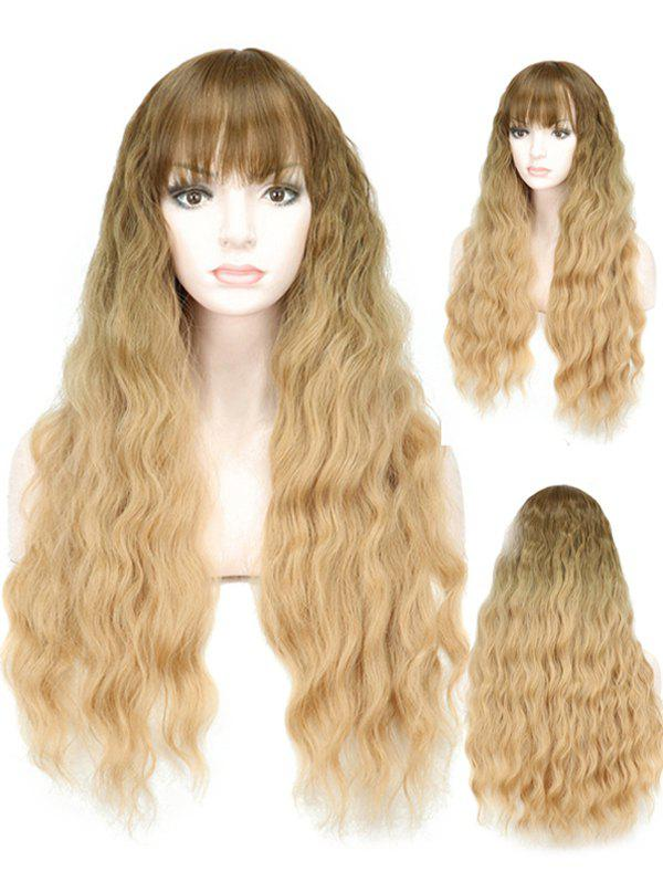 Affordable Full Bang Ombre Long Wavy Synthetic Wig