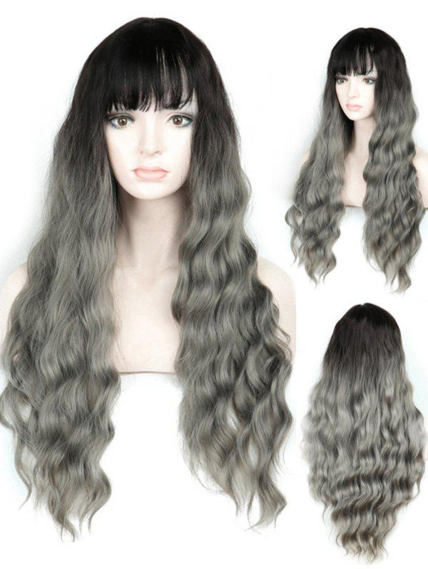 Outfits Full Bang Ombre Long Wavy Synthetic Wig