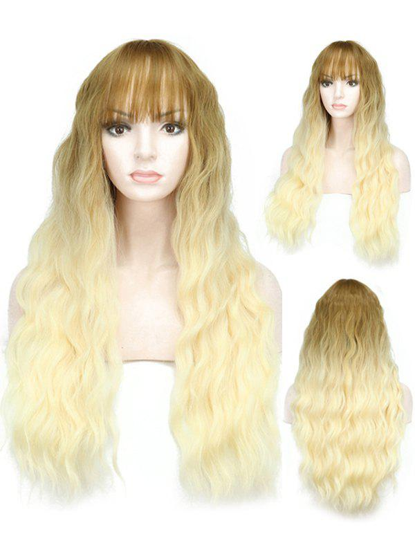 Buy Full Bang Ombre Long Wavy Synthetic Wig