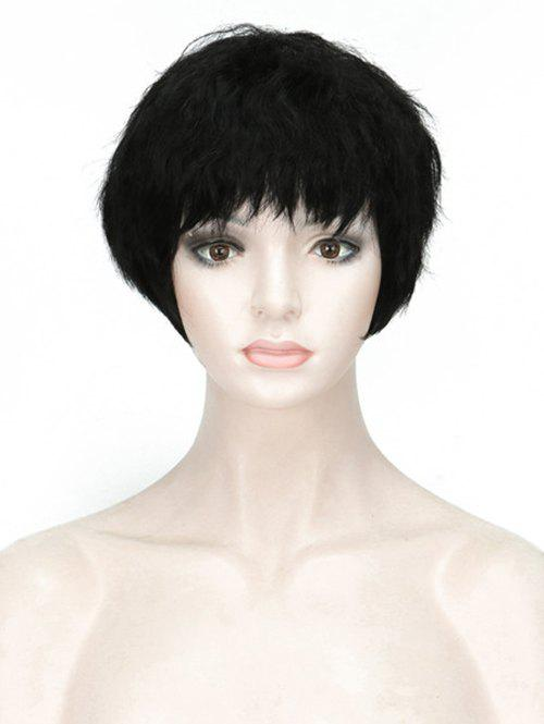 Sale Full Bang Short Straight Capless Synthetic Wig