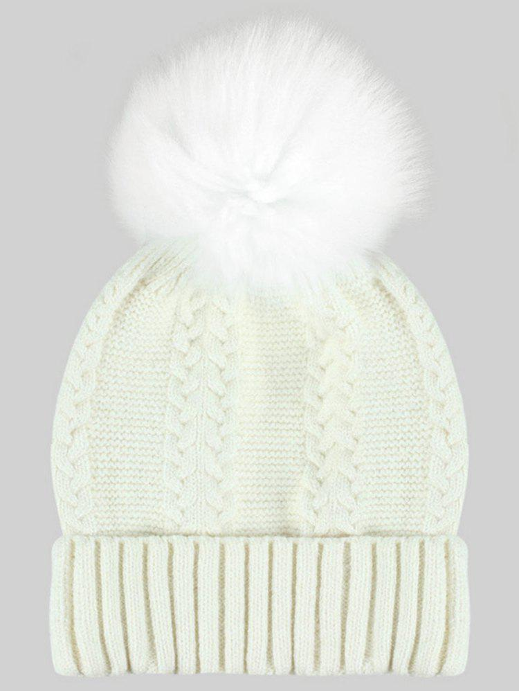 Shop Winter Fuzzy Ball Embellished Knit Beanie