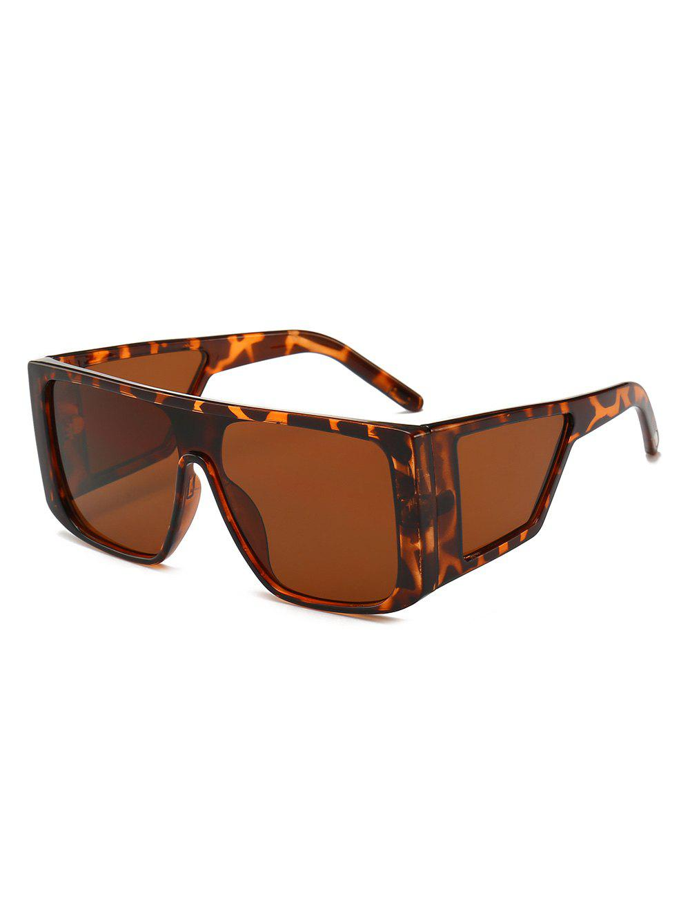 New Integrated Lens Square Frame PC Sunglasses