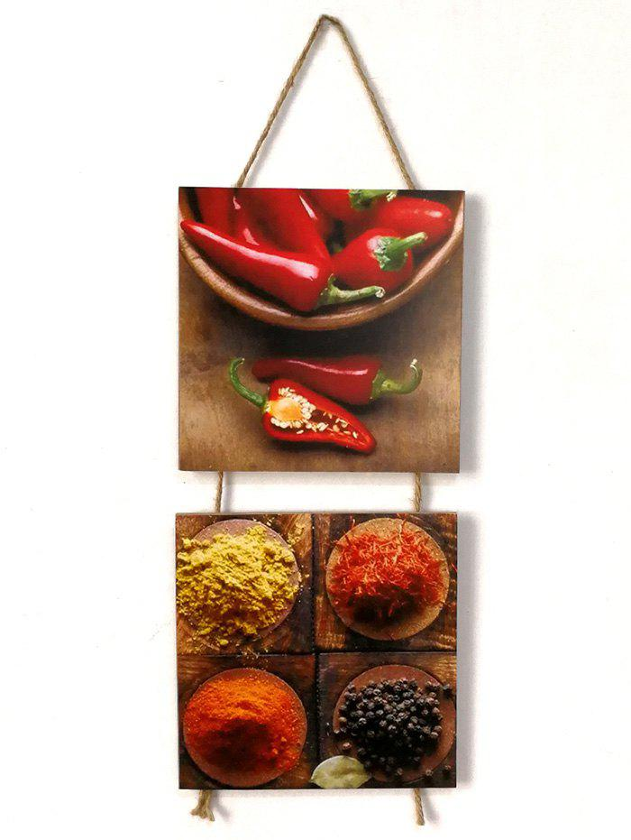 Latest Seasoning Peppers Pattern Wooden Hanging Signs