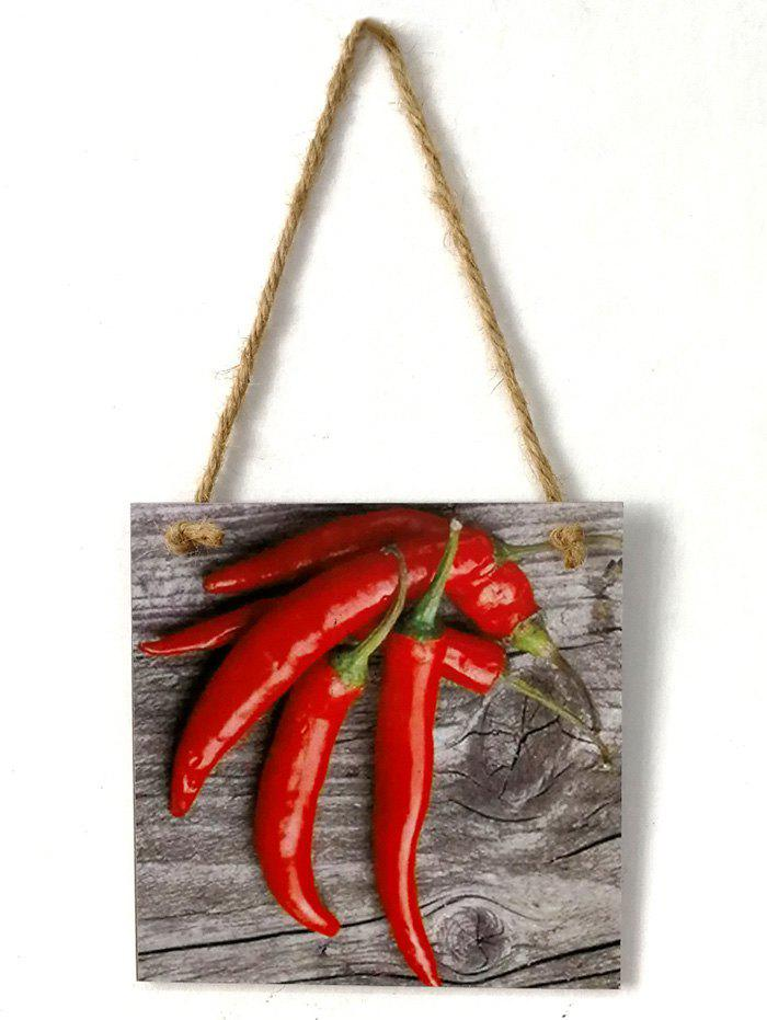 Fancy Peppers Pattern Wooden Hanging Sign