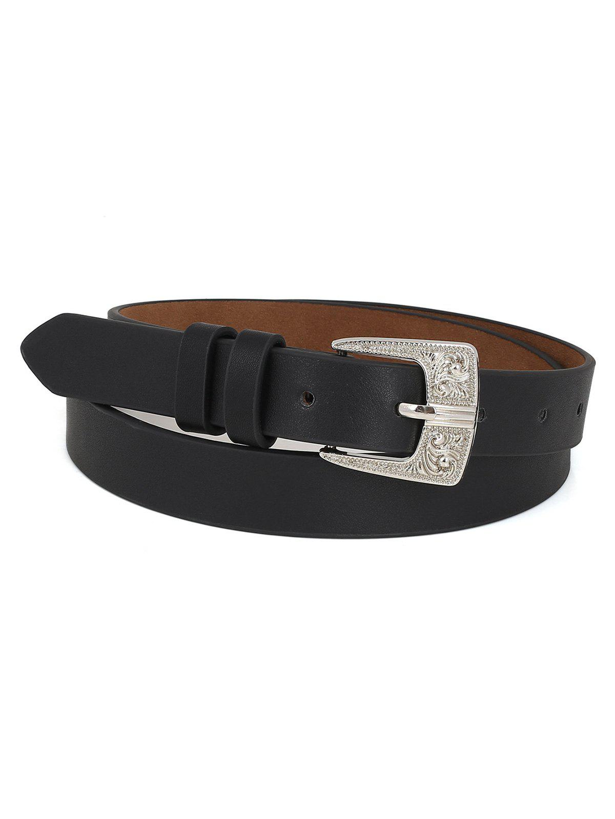 Store PU Leather Carving Pin Buckle Waist Belt