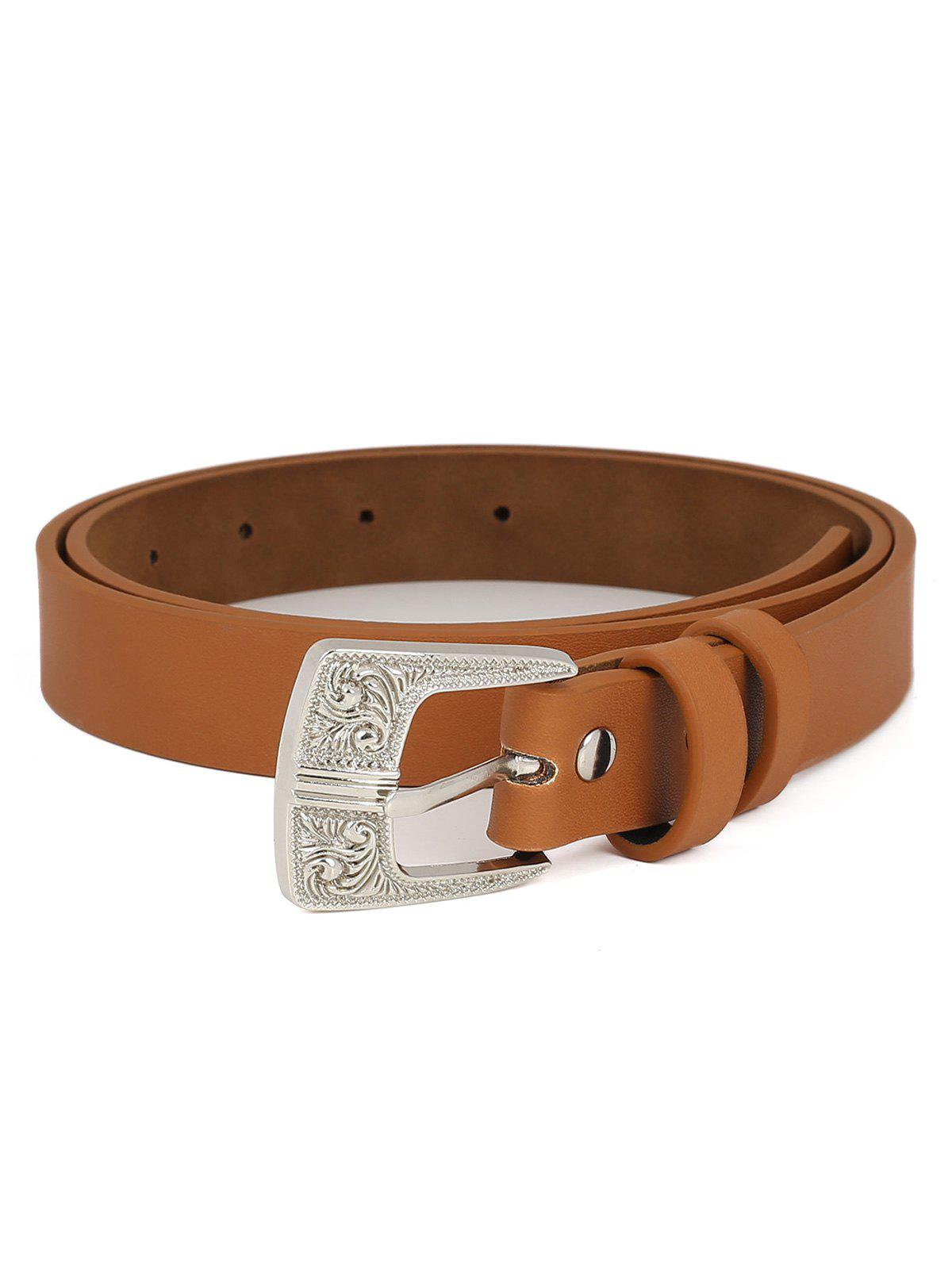 Shop PU Leather Carving Pin Buckle Waist Belt