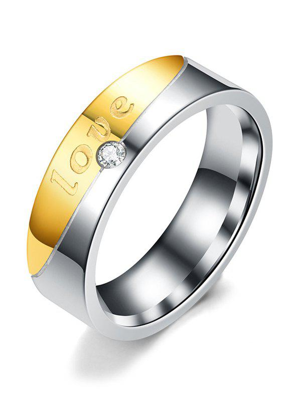 Outfits Stainless Steel Letter Inlaid Couple Ring