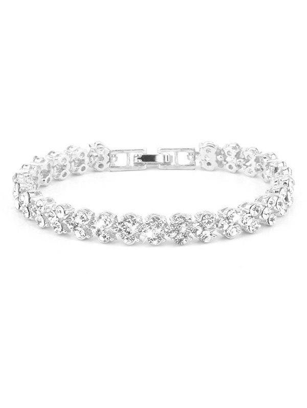 Affordable Faux Crystal Inlaid Alloy Bracelet