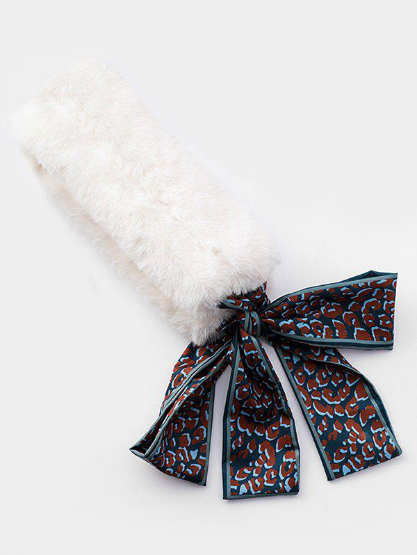 Outfits Winter Fuzzy Leopard Pattern Scarf