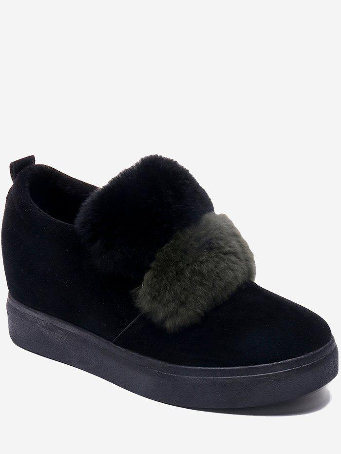 Fancy Contrast Fuzzy Hidden Wedge Flats