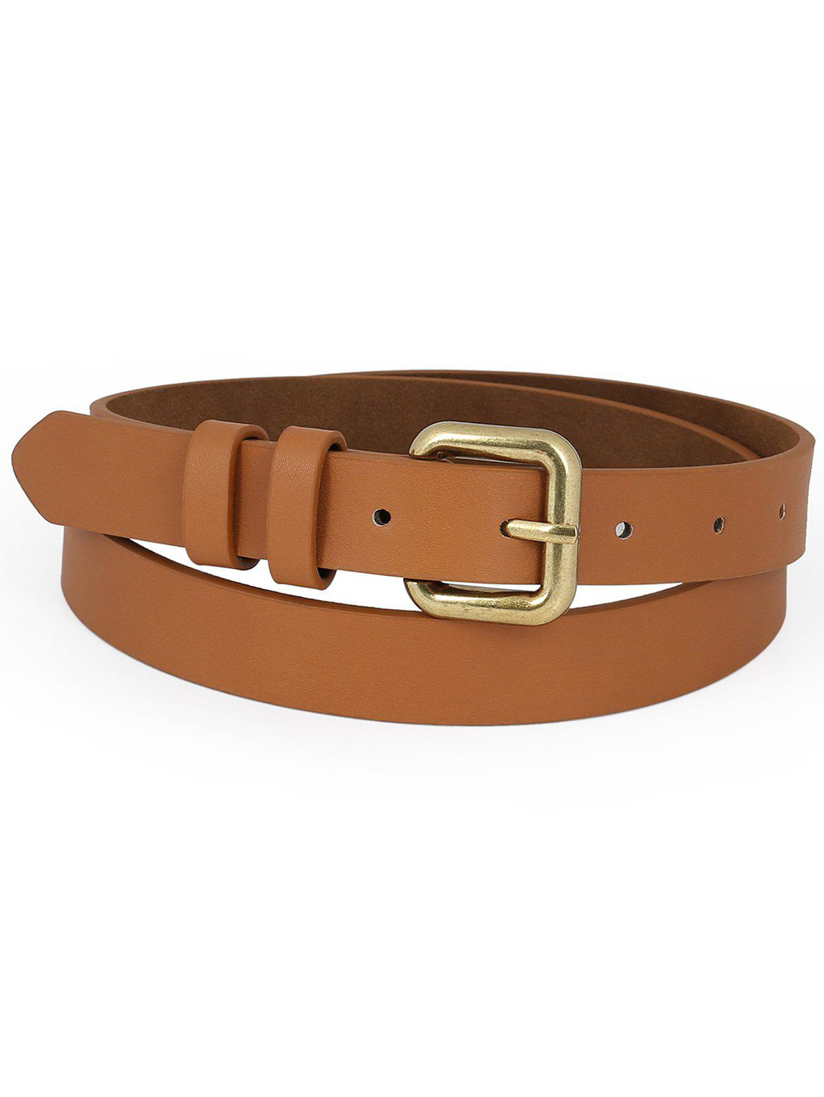 Affordable Simple Style Buckle Waist Belt