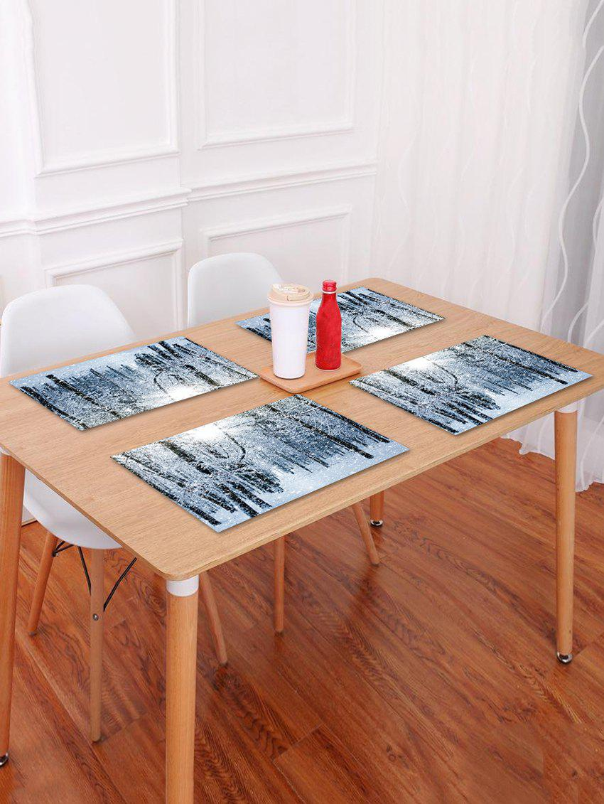 Affordable 1PC Snow Christmas Printed Placemat