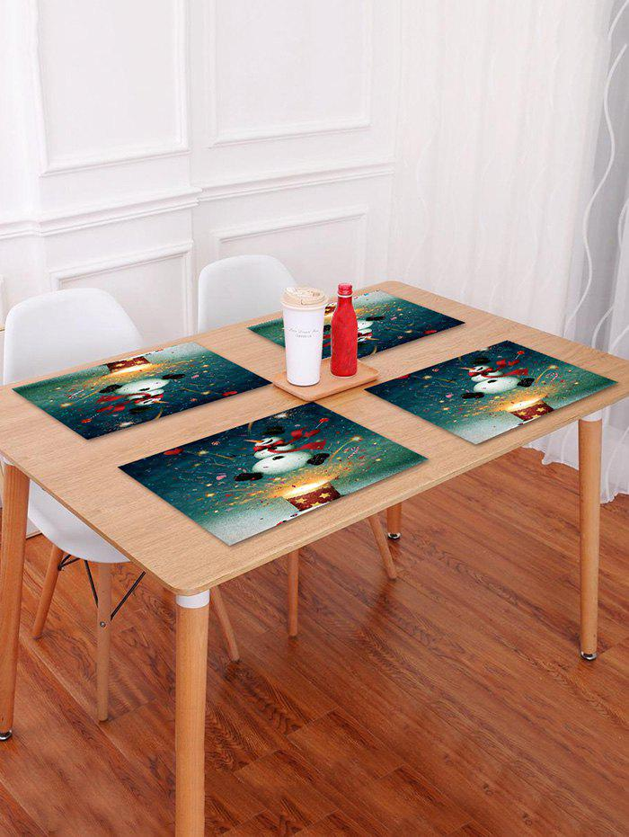 Shop 1PC Christmas Snowman Printed Placemat