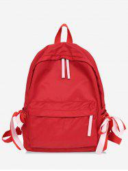 Contrast Ribbon Decor Detail Nylon Casual Backpack -