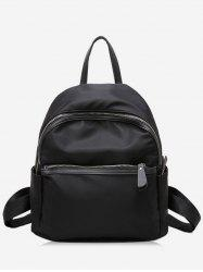 PU Panel Zipper Backpack -