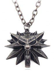 Gothic Triangle Coffin Lion Magic Hat Necklace -