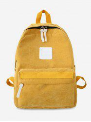 Solid Casual Corduroy Backpack -