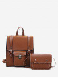 College Style 2 Piece Backpack Set -