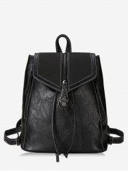 College Style Thread PU Backpack -