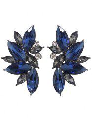 Faux Gem Flower Shape Rhinestone Stud Earrings -