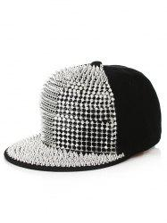 Punk Rivets Embellished Baseball Cap -