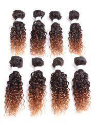 Short Jerry Curly Synthetic Hair Weaves -