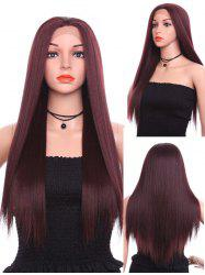 Long Free Part Straight Party Lace Front Synthetic Wig -