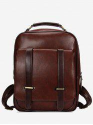 Double Arrows PU Zipper Backpack -
