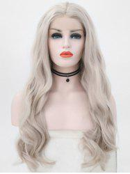 Center Parting Wavy Party Synthetic Lace Front Wig -