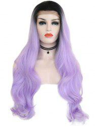 Free Part Colormix Wavy Party Cosplay Lace Front Synthetic Wig -