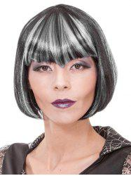 Full Bang Short Colormix Straight Bob Cosplay Synthetic Wig -