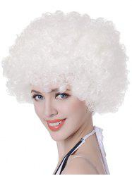 Short Fluffy Afro Curly Capless Party Synthetic Wig -