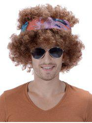 Short Shaggy Curly Heat Resistant Synthetic Wig with Hair Band -