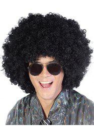Medium Neat Bang Shaggy Afro Curly Synthetic Wig -
