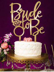 Bride To Be Pattern Wedding Cake Topper -