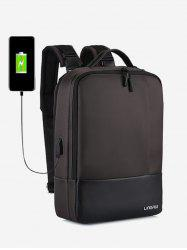 Chargeable Multifunction Contract Color Backpack -