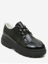 Patent Leather Lacing Platform Sneakers -