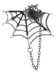 Hollow Out Spider Web Brooch -