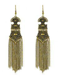 Vintage Chain Fringed Earrings -