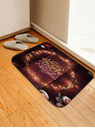 Merry Christmas Happy New Year Printed Floor Mat -
