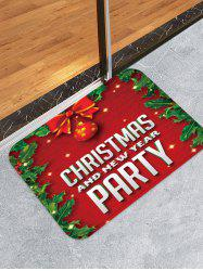 Christmas and New Year Printed Floor Mat -