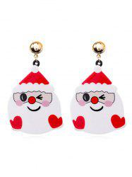 Christmas Decoration Snowman Cartoon Earrings -