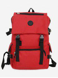Canvas Zipper Compartment Backpack -