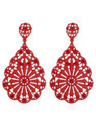 Chinese Style Water Drop Shape Hollowed Stud Earrings -