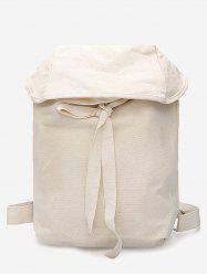 Simple Style Lace Up Backpack -