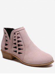 Hollow Out Ankle Boots -